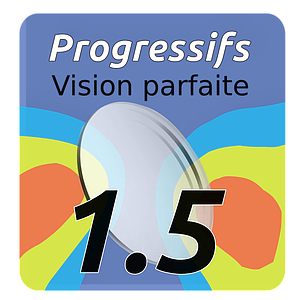 Lens Progressif Vision Perfect indice 1.5