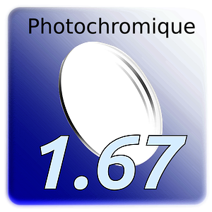 "Lens ""Hercule"" Photochromique CR39 Indice 1.67"