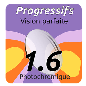 Lens Progressif Vision Perfect Photochromique Indice 1.6