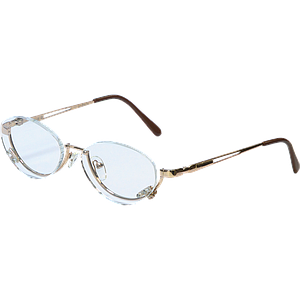 Metal makeup glasses