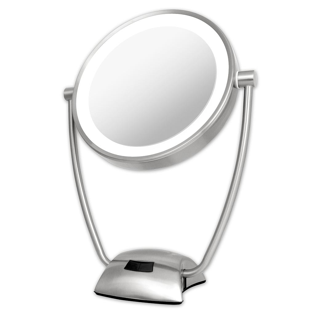 Illuminated & Rechargeable Magnifying mirror 1x/10x