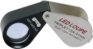 LED/UV Jeweler's Magnifier Triplet