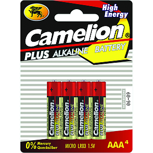 Batteries Alcaline Plus LR03/AAA par 4