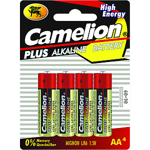 Alkaline batteries LR06 / AA by 4